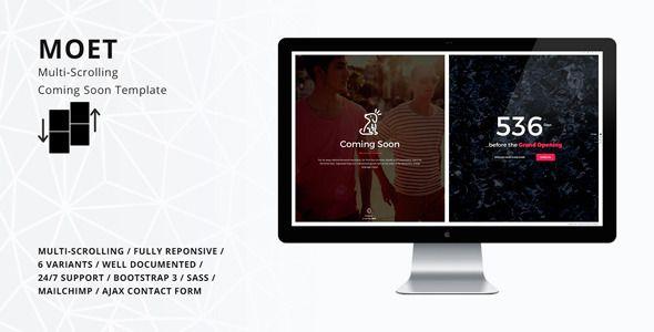 moet multi scrolling coming soon template web design. Black Bedroom Furniture Sets. Home Design Ideas