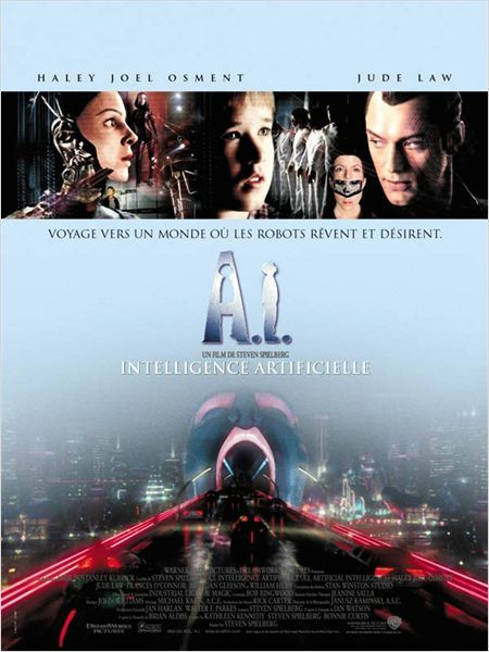 A I Intelligence Artificielle Affiche Intelligence Artificielle Film A I Intelligence Artificielle