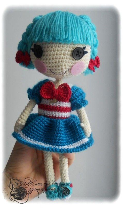 Dolls Art Dolls-ooak Poupée Réalisé Au Crochet