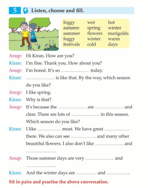 english book grade 3 seasons weather and festivals english language page 4 english. Black Bedroom Furniture Sets. Home Design Ideas