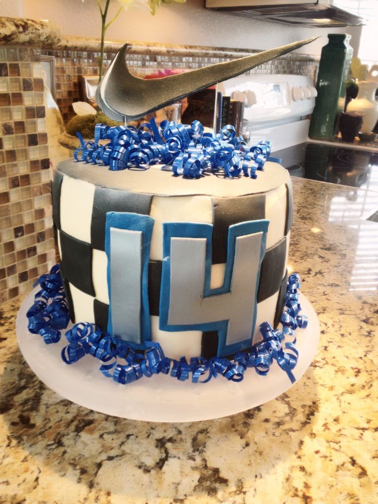 ethan's nike 14th birthday cake | .cakes. | pinterest | teen cakes