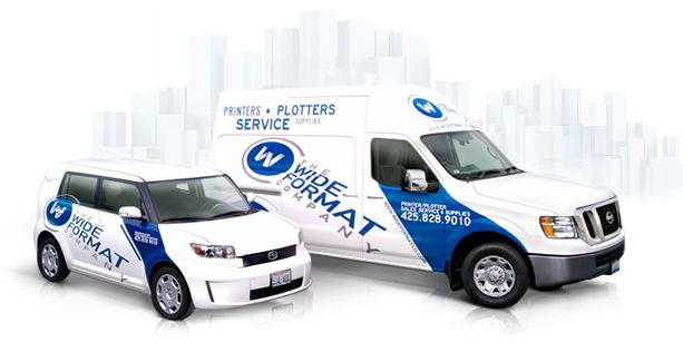 Custom Vehicle Graphics And Car Wraps From The Wide Format Company - Vehicle decals for business application