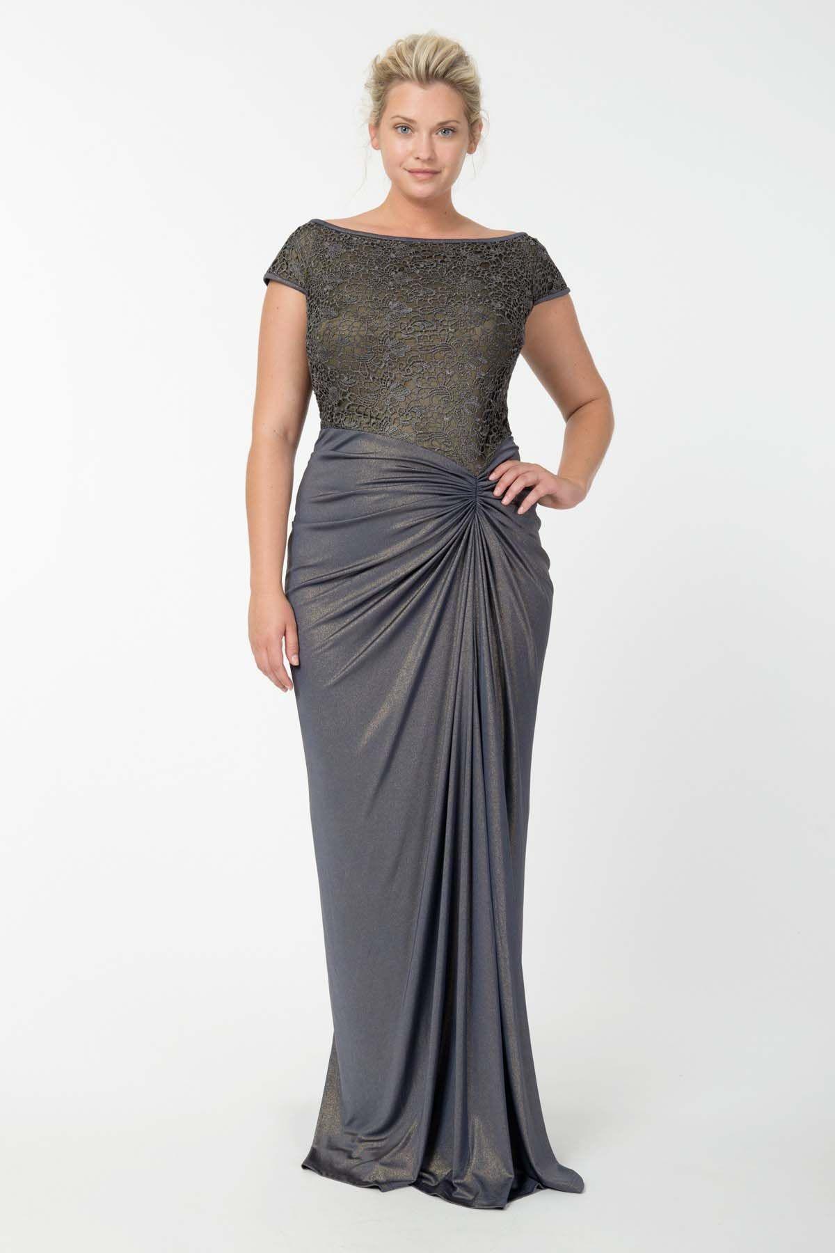 171a44aca4e Вечерние платья для полных женщин (130 фото)  больших размеров ...