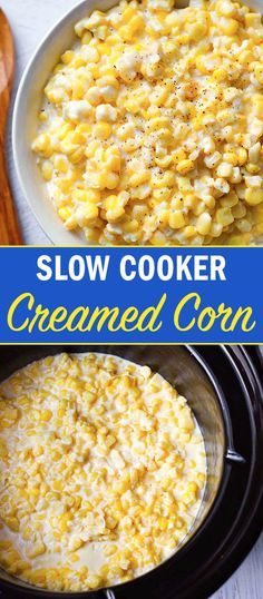 Slow Cooker Creamed Corn is one of my favorite vegetable side dishes. The creami…