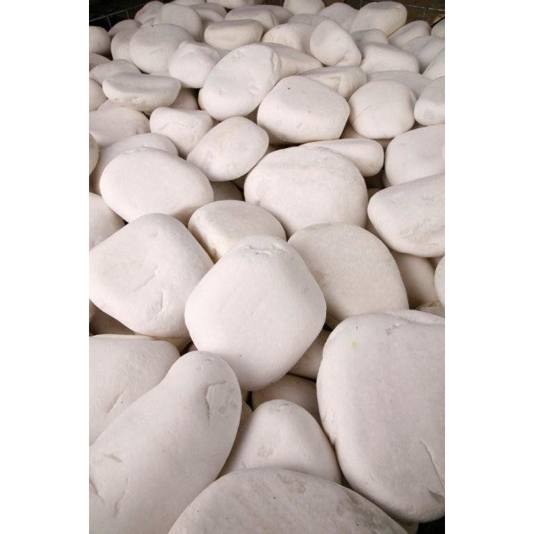 Galets Purs En Marbre Blanc 40 60 Mm 10 Kg Galets Marbre Bordure Terrasse