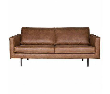 BePureHome Sofa Rodeo 2.5 Sitz Cognac Braun Leder 190x86x85cm