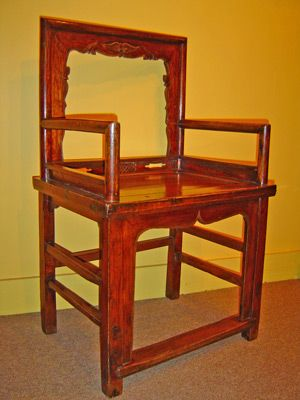 Oriental Furniture Antique Low Back Chinese Chair Benches - Asian chair asian