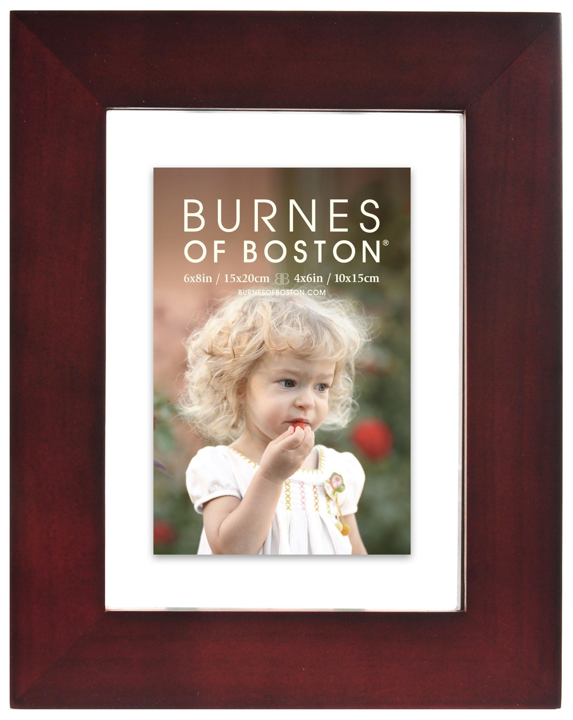 Burnes Of Boston Walnut Float Frame 6 Inch By 8 Inch Home