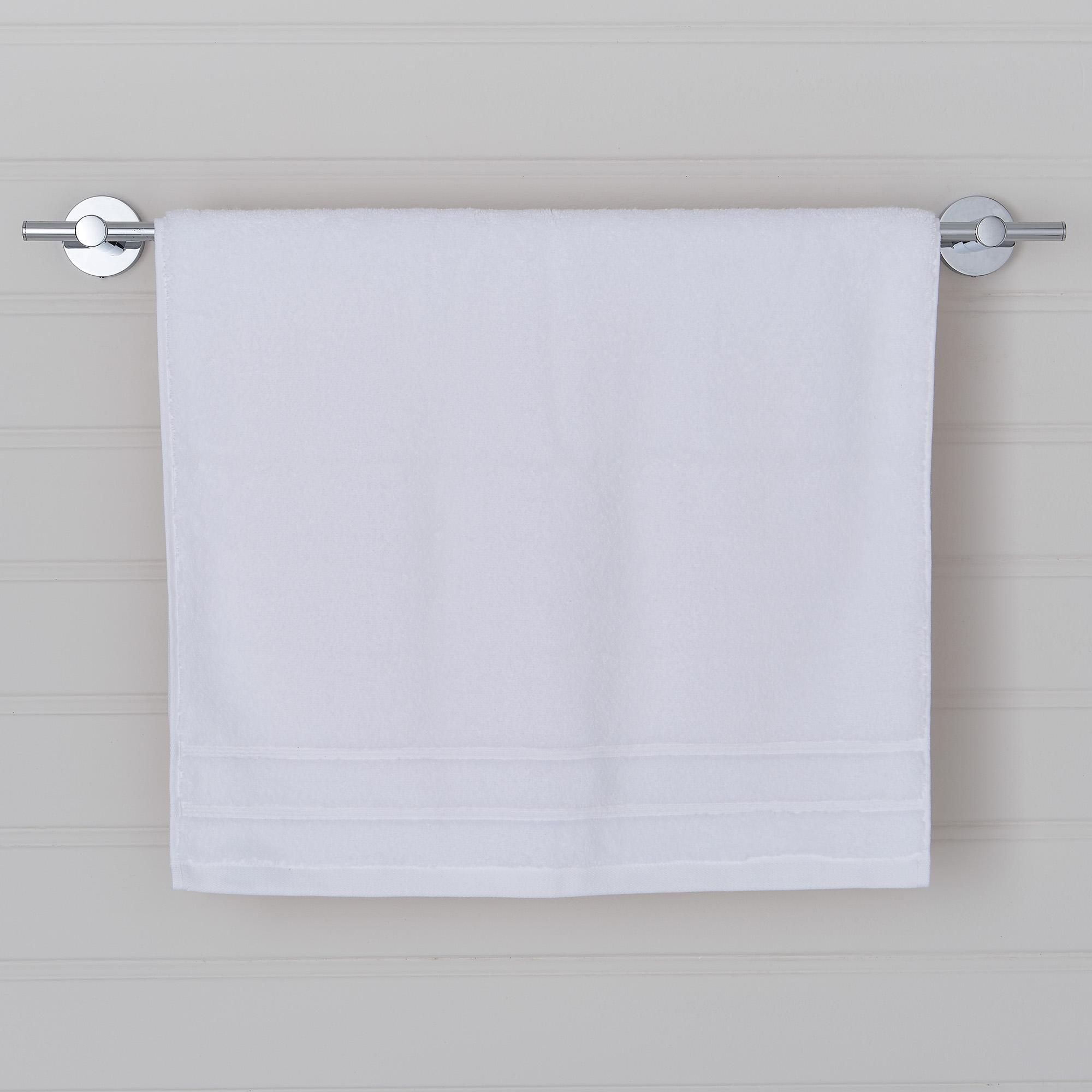 "Price Drop: our range of Ultimate Towels (excluding Guest Towels) are now available at a new lower price. Was from £8, now from £7.Our Extremely Fluffy Towel. These 100% cotton bathroom towels are the ultimate in luxurious opulence, featuring a reduced fibre shedding design and a 600gsm weight quality, these towels come with a zero twist pile for added longevity. Finished in a long-lasting crisp white, and available in a choice of sizes. ""The Dunelm Ultimate Towel range felt luxurious, weighty a"