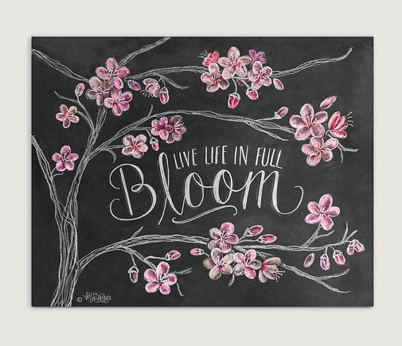 Welcome Spring This Whimsical Chalk Art Print Features