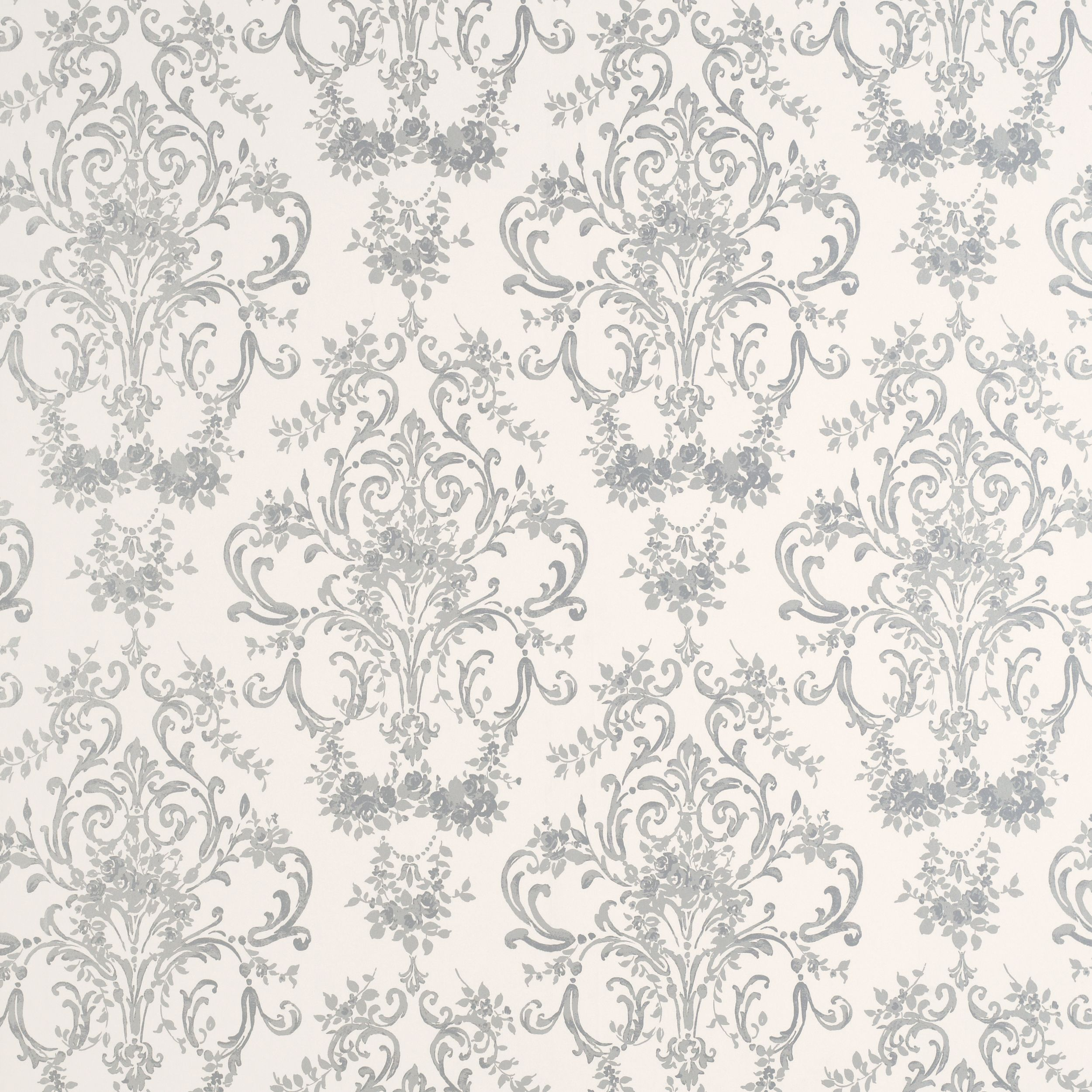 38.00 - Laura Ashley - Aston Silver Patterned Wallpaper | Products I ...