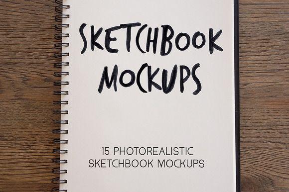 Sketchbook mockups mockup and fonts
