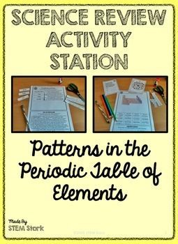 Science review activity patterns on the periodic table of elements 8th grade science review activity station fun and engaging for students easy prep for urtaz Images