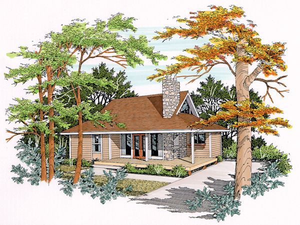 House Plan 078d 0023 House Plans And More Diy House Plans Luxury House Plans Small Cottage House Plans