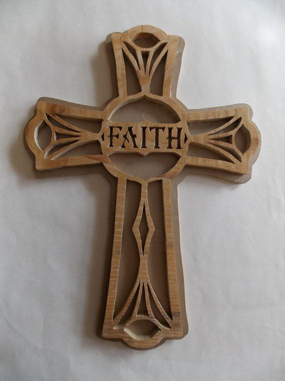Faith 11 Quot Wooden Celtic Cross Wall Decor Scroll Sawn