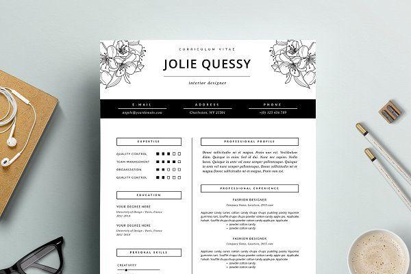 Fashion Resume Template CV - Resumes Total Pinterest Resume