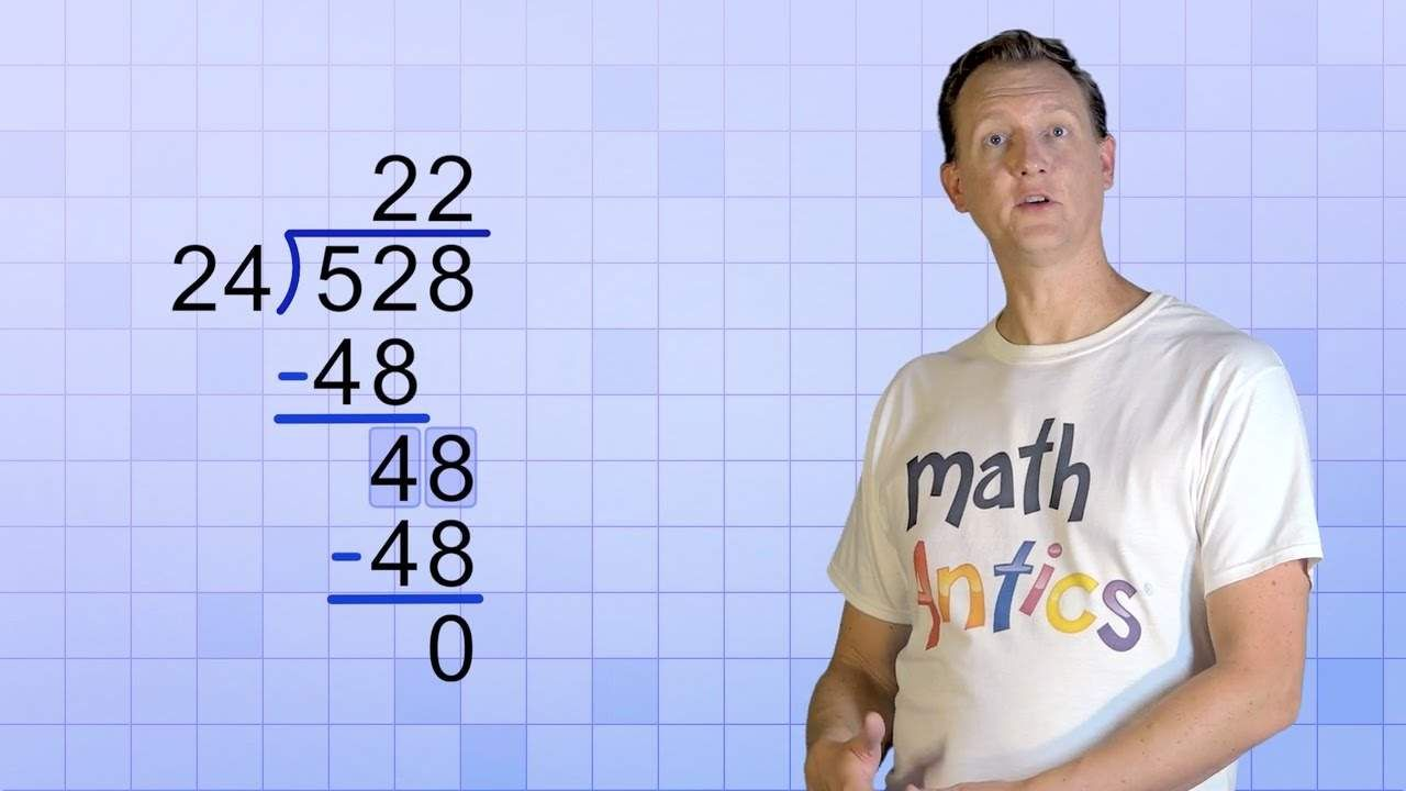 Math Antics Long Division With 2 Digit Divisors Math Division Math Methods Fifth Grade Math Mathantics addition with regrouping