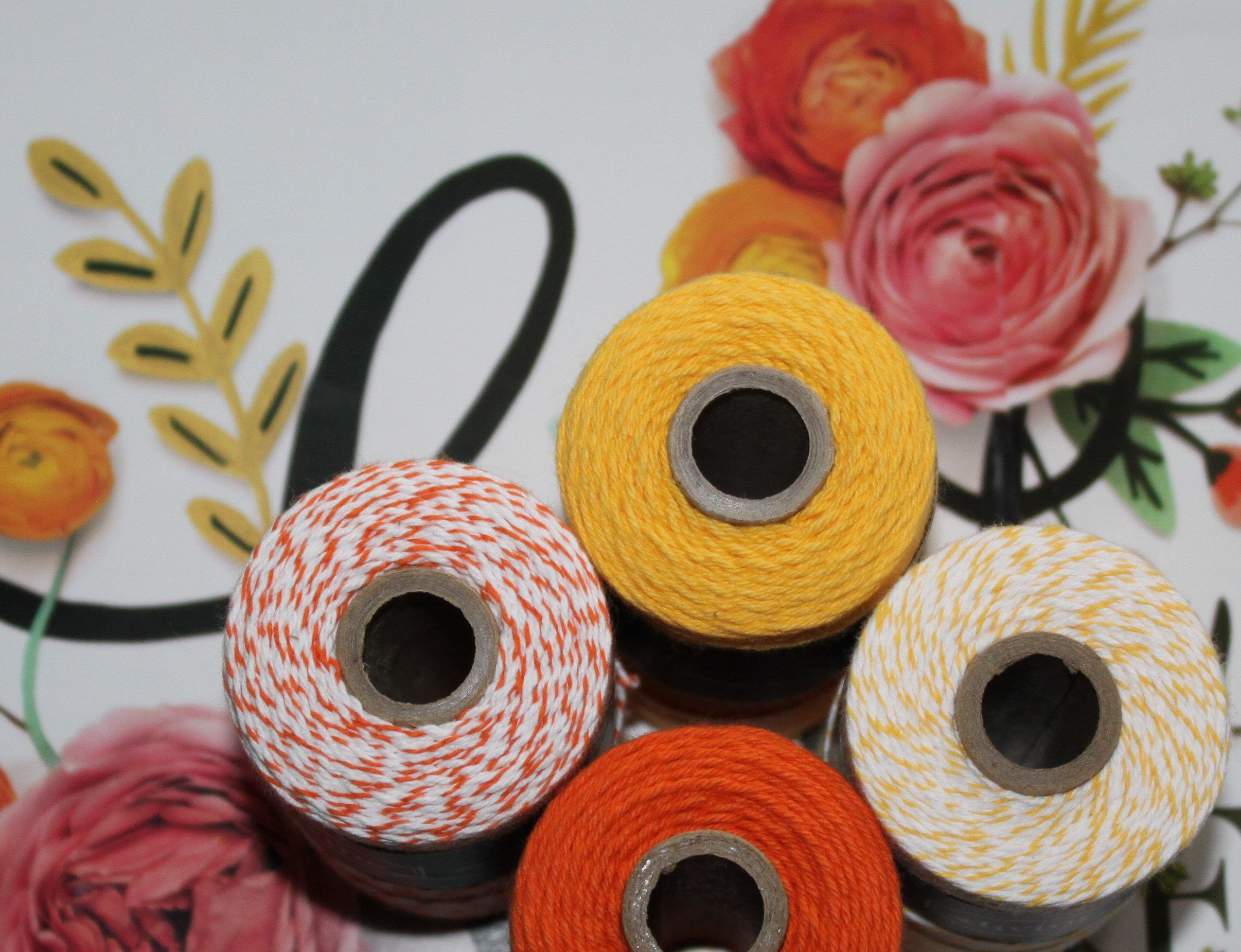 Orange divine twine collection bakers twine gift wrap crafts