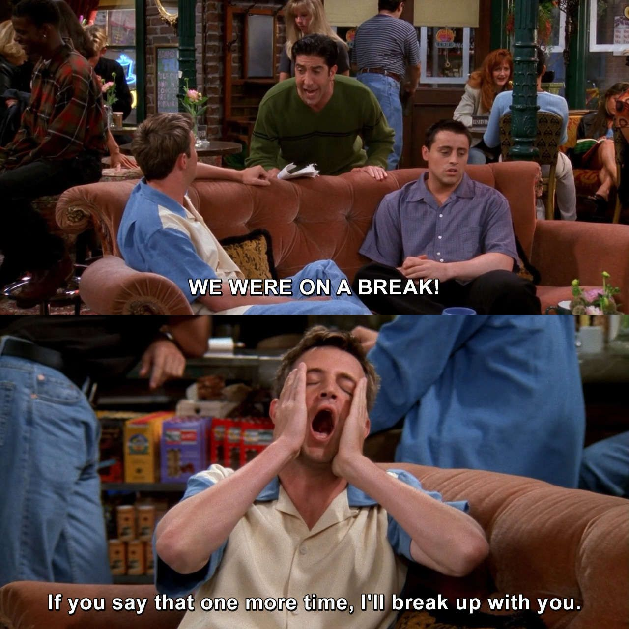 Friends The One With The Jellyfish Chandlerbing Rossgeller Friends Theonewiththejellyfish Tv Mem Friends Tv Quotes Friends Funny Moments Friends Scenes