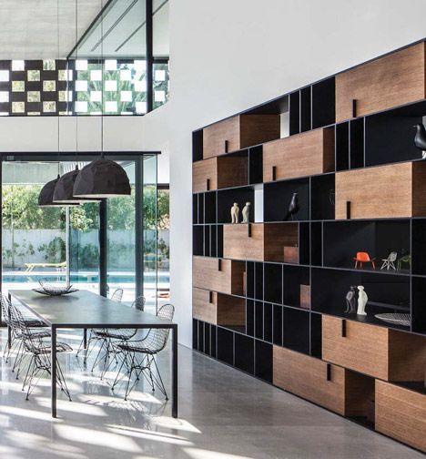 L neas y trazos del interiorismo elegante libreros y for Trazos muebles