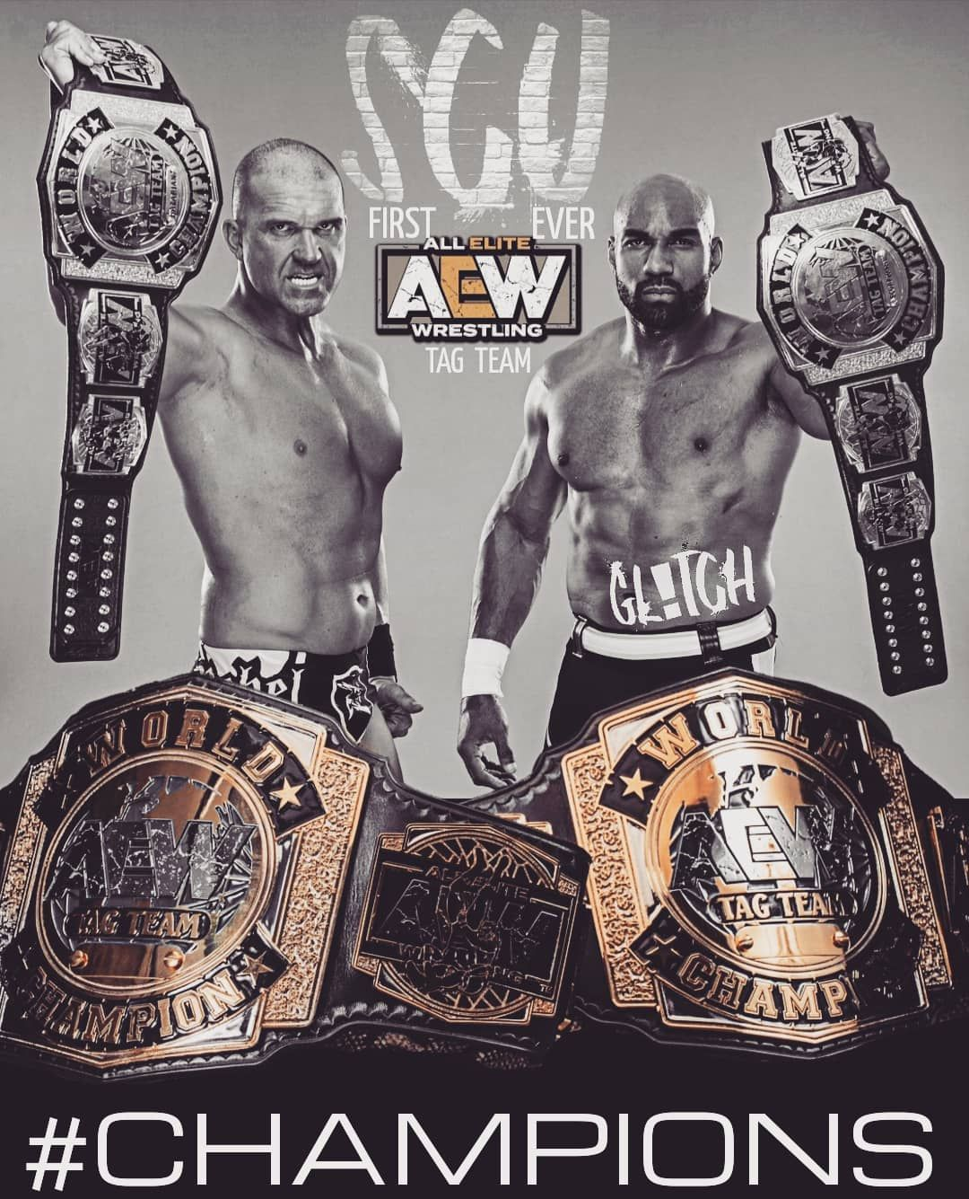 Gl Tch On Instagram Congratulations To My Guys Well Deserved First Ever Aew Tag Champs Scu Socaluncensored Frankiekazari Wrestling Wwe Wallpapers Champs