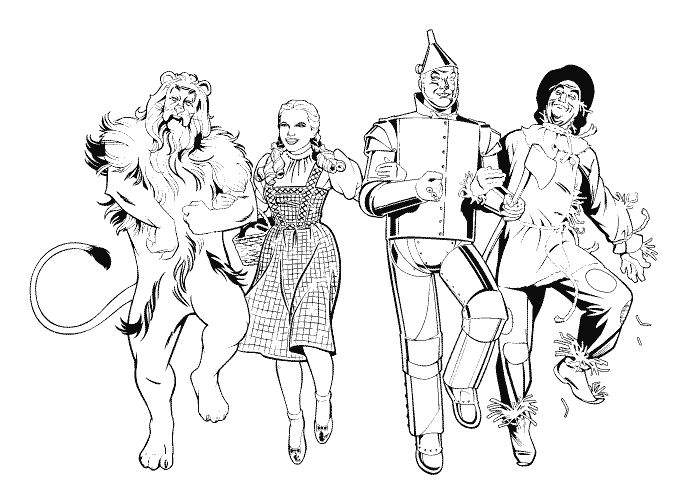 Cartoon Coloring Page Wizard Of Oz Coloring Pages Wizard Of Oz Color Wizard Of Oz Characters Wizard Of Oz