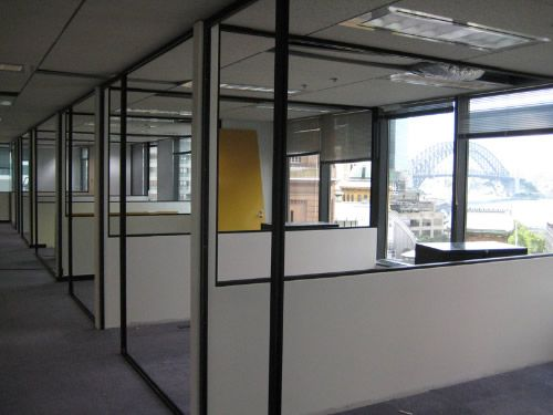 Maybe Half Walls With Glass Office Dividers Corporate Office Design Modern Office Dividers