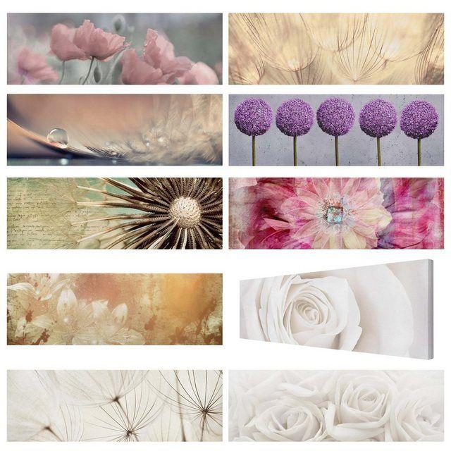 Bilderwelten Leinwandbild Panorama »Top Blumen Leinwandbilder« online kaufen | OTTO