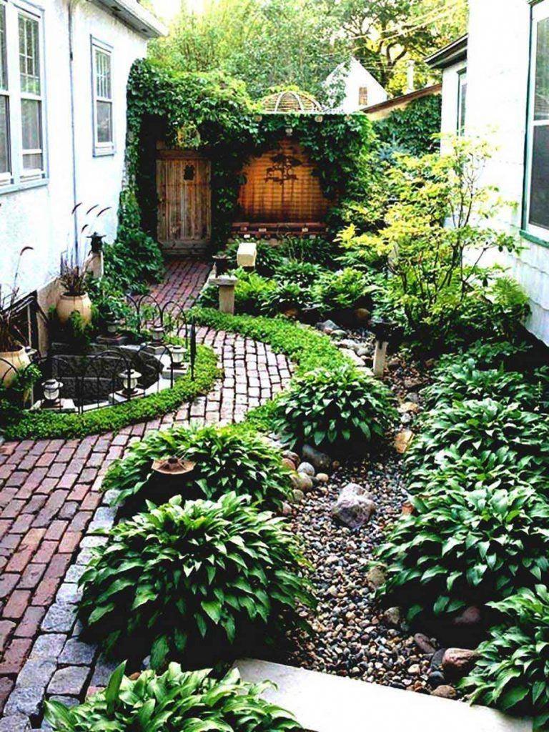 Fabulous Simple Landscaping Ideas Cheap No Grass Garden And Patio Narrow Side Yard House Design Small Backyard Landscaping Small Backyard Design Garden Design