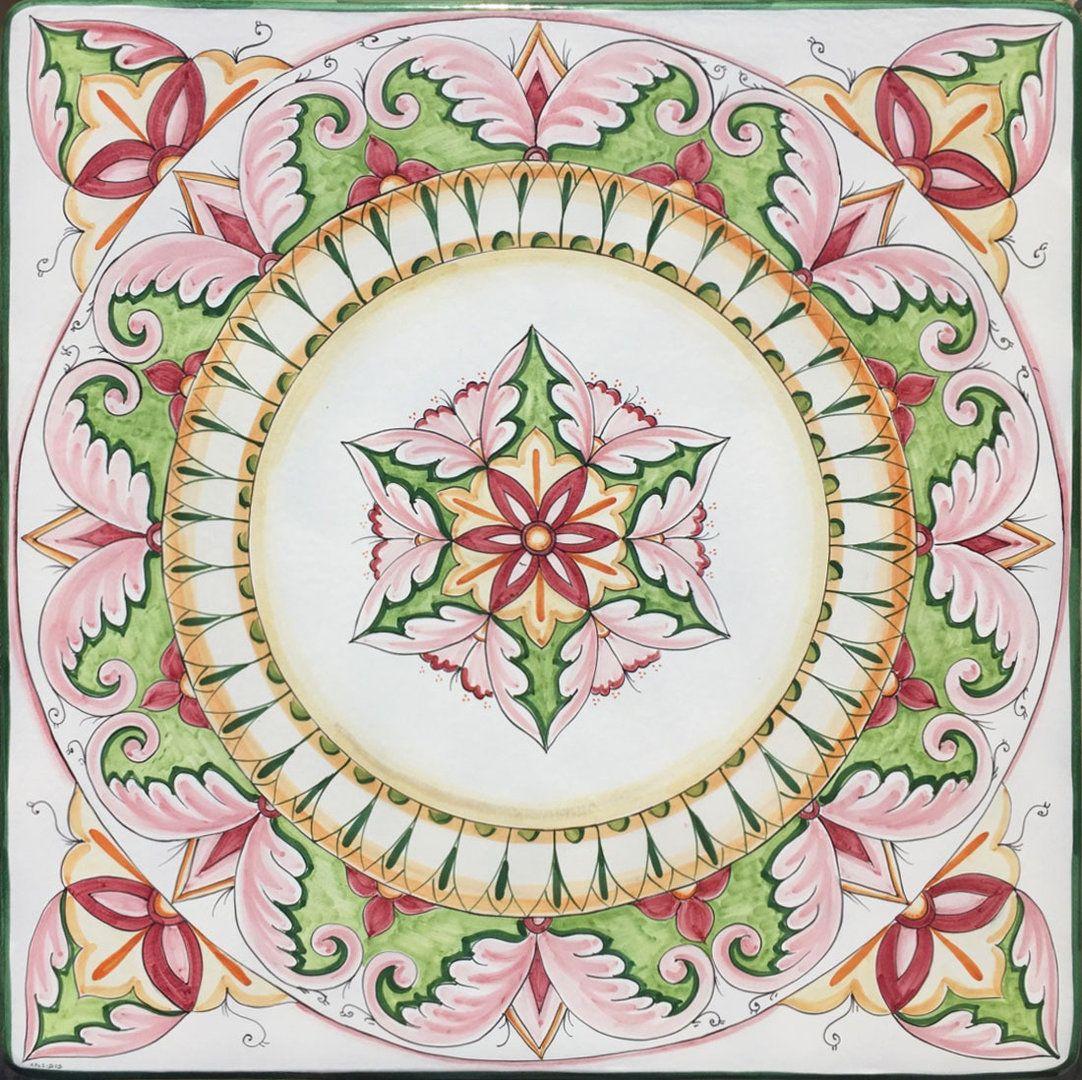 Piastrelle Decorative Per Tavoli piano per tavolo vietrese rosa 100x100 cm | piastrelle