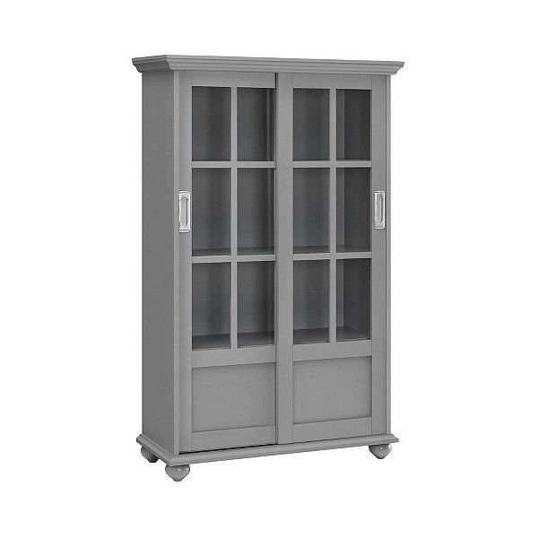 Aaron Lane Bookcase With Sliding Glass Doors 200 Liked On
