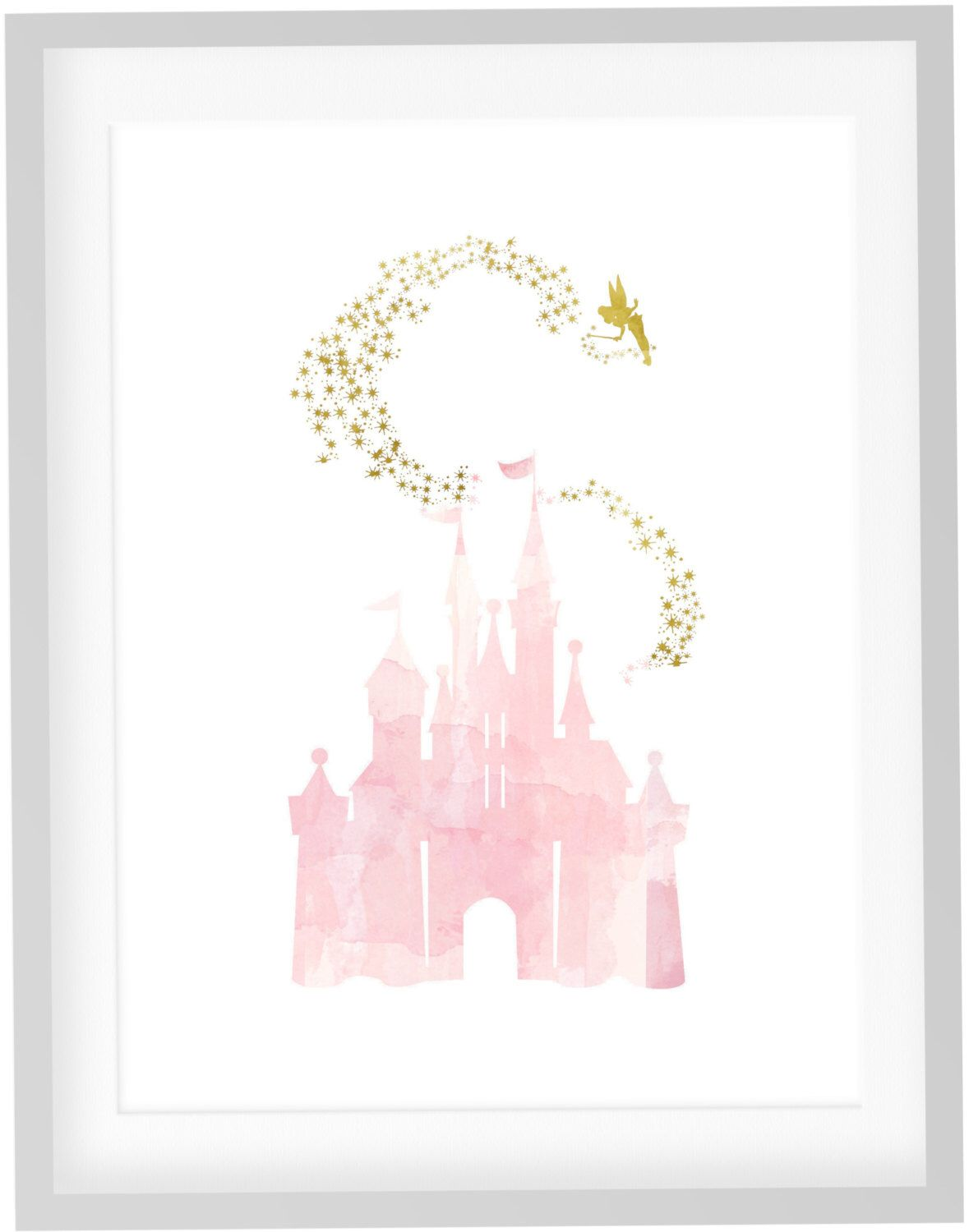 Tinkerbell Print Diy Printable Pink Blush Watercolor Disney