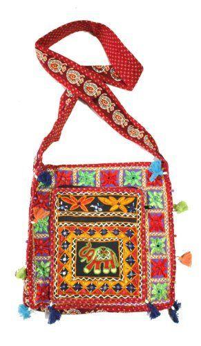 Indian hold all carry bag luggage hippy boho festival Geometric market stock