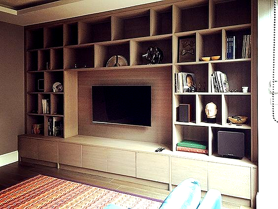 Built In Wall Unit For London Client Tv Entertainment Unit In