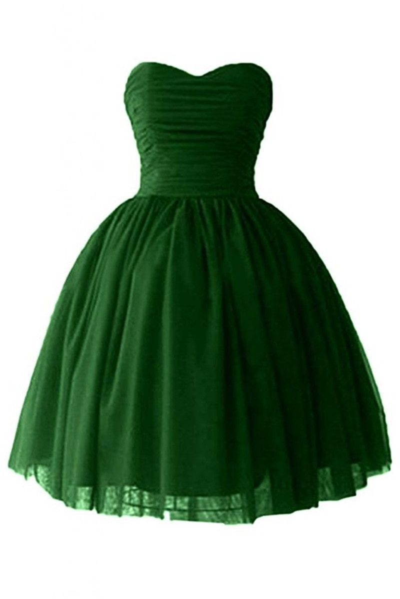 Sleeveless green short prom dresses vestidos de anos vestido