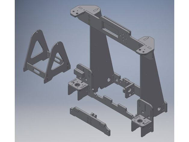 Anet A8 Acryl Frame By Smallartfly Thingiverse Acryl 3d Drucker