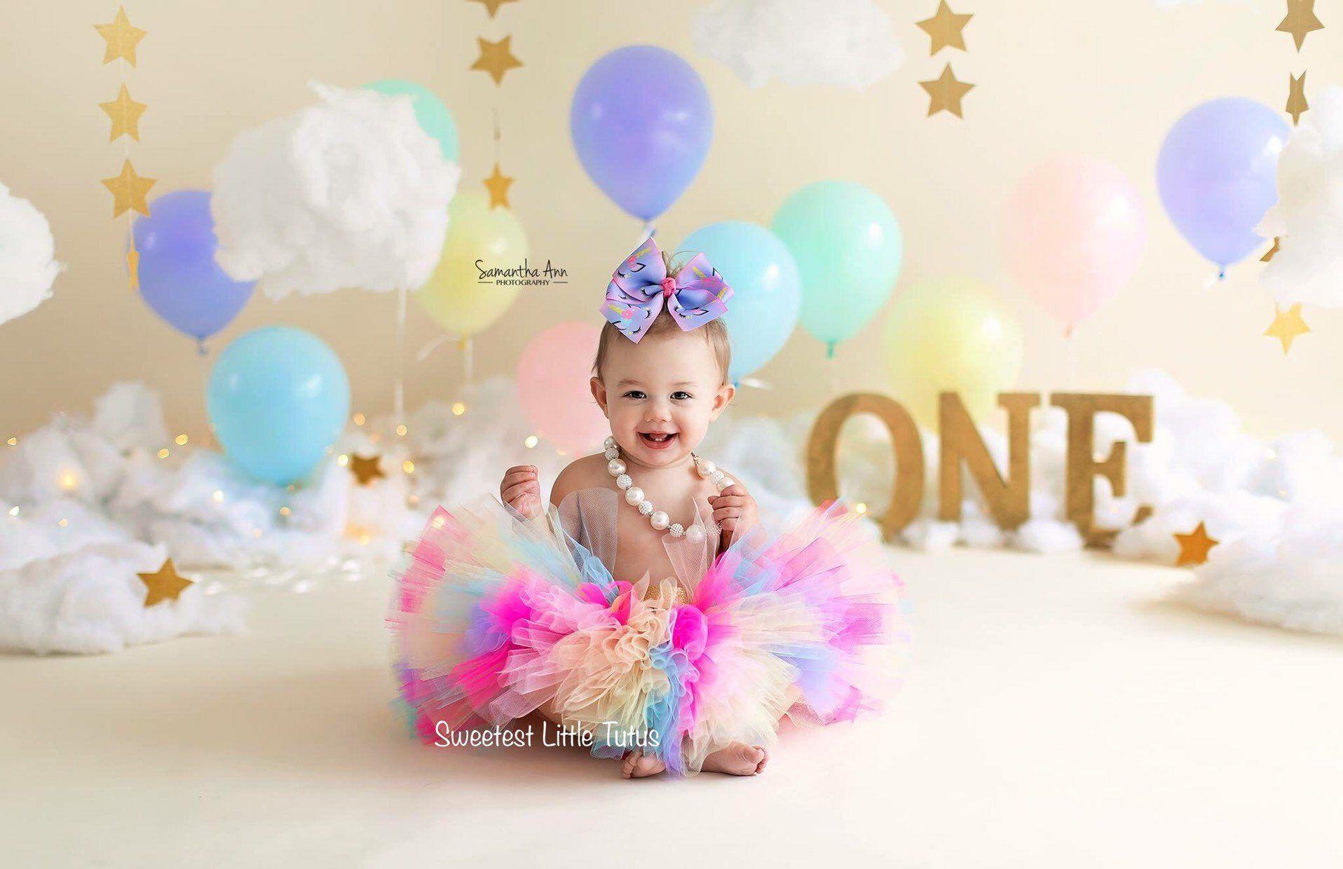 Birthday Tutu Blue Tutu Cake Smash Tutu Costume Tutu Baby Tutu 1st Bday Tutu Newborn Tutu First Birthday Tutu