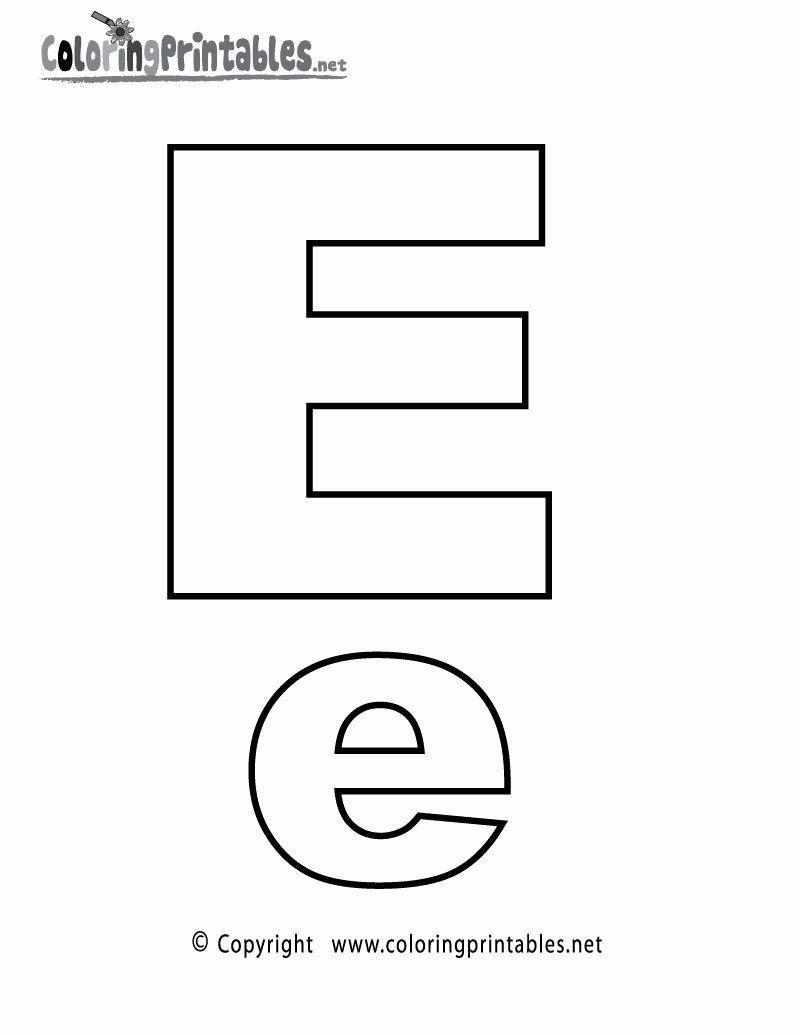 Alphabet Coloring Pages Twisty Noodle Elegant Letter E Coloring Pages Lettering Alphabet Alphabet Coloring Pages Alphabet Printables