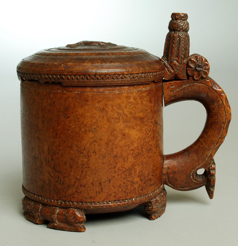17th/18th Century Norwegian Tankard | Colonial Arts. Maybe not so Very Ancient but pinned nonetheless.