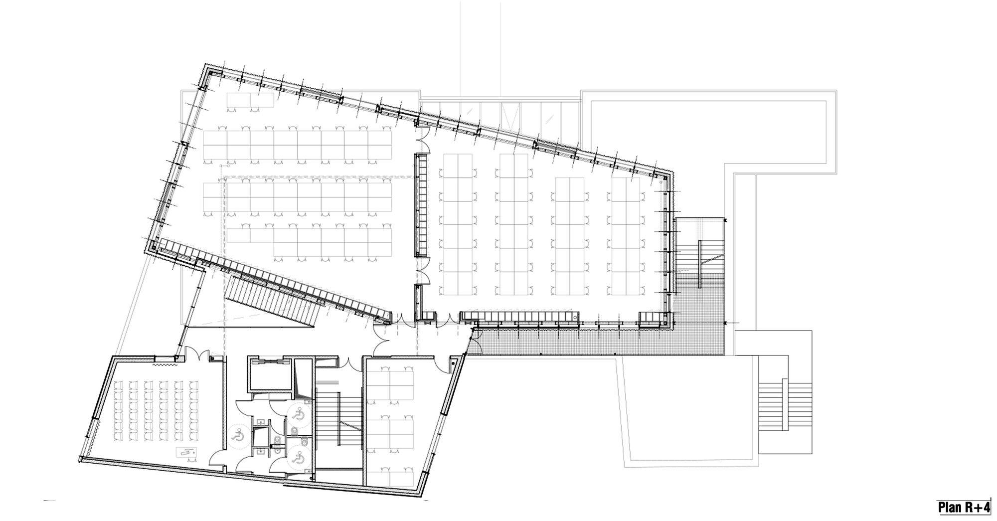 Architecture School Plan gallery of strasbourg school of architecture / marc mimram - 13
