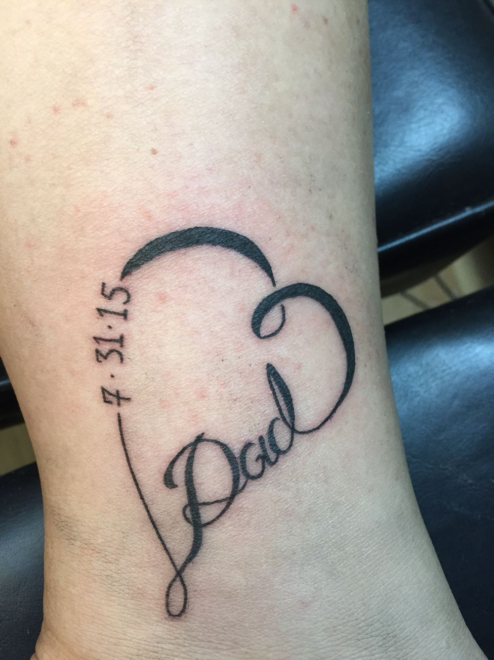 Dad Memorial Tattoo : memorial, tattoo, Honor, Tattoos, Memorial,, Daughters,, Tribute