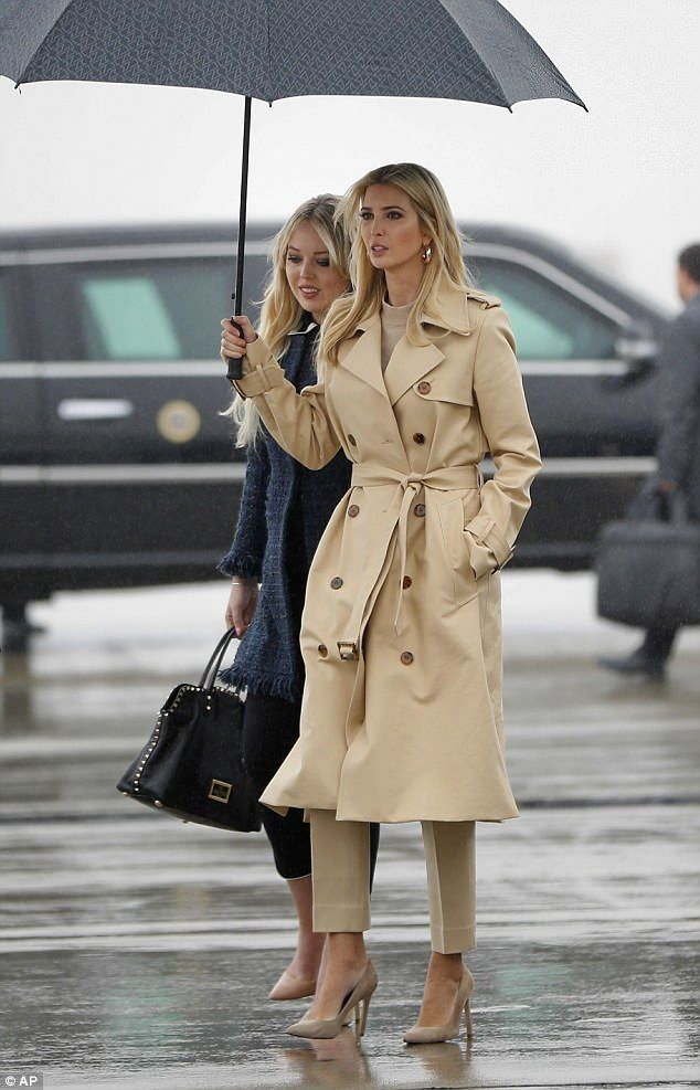 Ivanka and Tiffany Trump support their father on t