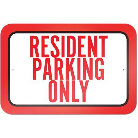 Graphics and More Visitor Parking Only Slap-STICKZ Premium Laminated Sticker Sign TM
