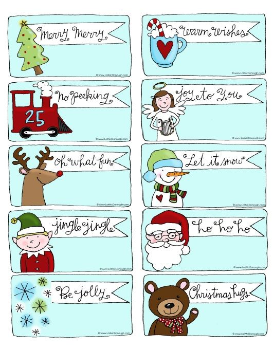 Cute Gift Tag Labels Holiday Labels And Holiday Printable