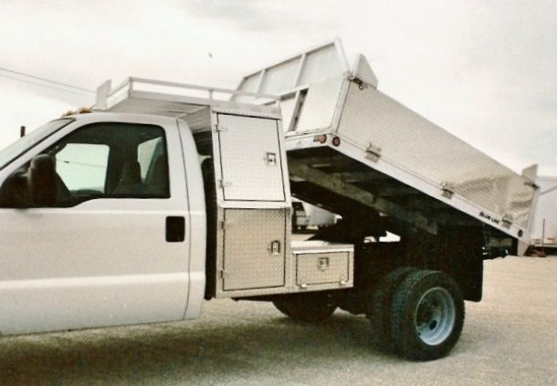 Flat Deck And Landscape Aluminum Dump Truck Bodies