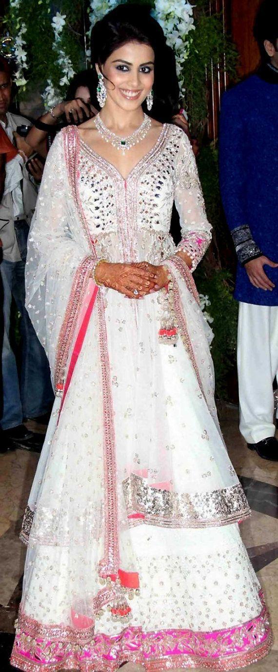 Bollywood #Saree #Designer Saree White Colour #Bollywood #Replica ...