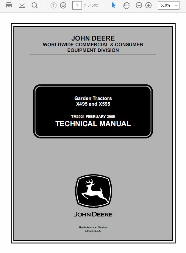 John Deere X595 Wiring Diagram | Wiring Diagram on