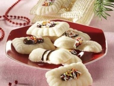 Vánoční nepečené cukroví bílá kokosová čokoláda