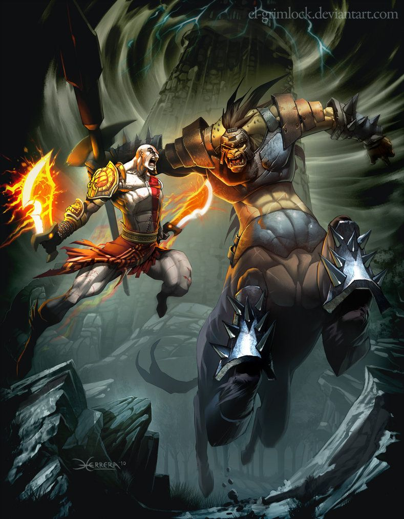 God Of War 3 Mit El Grimlock God Of War Kratos Desenho Melhores Imagens