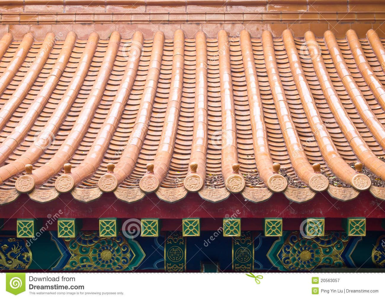 Chinese roof tiles 20563057g 13001009 world design photo about ceramic roof tiles of chinese house 20563057 dailygadgetfo Image collections